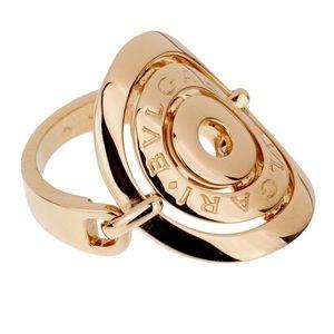 Bulgari Astrale Cerchi shield ring size 5.5 18k
